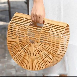 Wooden Tote Bag Clutch